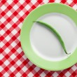 Green bepod on plate — Stock Photo #7132821