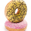 Sweet doughnut on white — Stock Photo