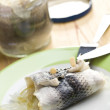 Rollmop on plate — Stock Photo #7145048