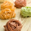 Colorful pasttagliatelle — Stock Photo #7145982