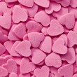 Pink hearts background - Stock Photo