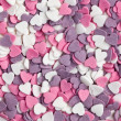 Colorful hearts background — Stock Photo #7148832