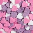 Colorful hearts background — Stock Photo #7148868
