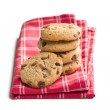 Pile of chocolate cookies — Stock Photo