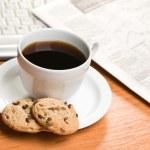 Breakfast in office — Stock Photo #7149075