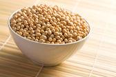 Soya beans in ceramic bowl — Stock Photo
