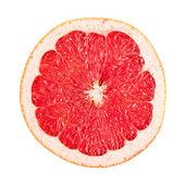 Sliced red grapefruit on white — Stock Photo
