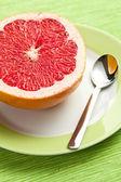 Sliced red grapefruit — Stock Photo