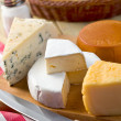 Still life with cheeses — Stock Photo