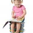 Small child reading a book — Stock Photo #7154879