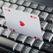 Stock Photo: Online poker gambling