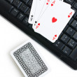 Online poker gambling — Stock Photo