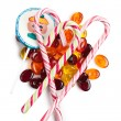 Various colorful candy — Stock Photo
