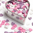 Sweet colorful hearts — Stock Photo
