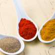 Stock Photo: Various spicy powder