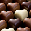 Chocolate hearts background — Stock Photo #7175703