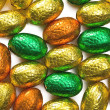 Colorful chocolate eggs — Foto de Stock