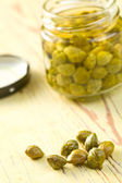 Marinated capers — Stock Photo