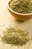 Dried leaves of mate tea — Stock Photo