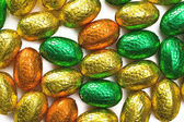 Colorful chocolate eggs — Stock Photo