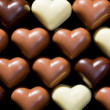 Stock Photo: Chocolate hearts background
