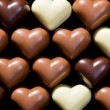 Chocolate hearts background — Stock Photo #7206704