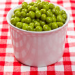 Stock Photo: Canned green peas