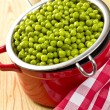 Canned green peas — Stock Photo #7206765