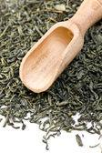 Green tea leaves — Stock Photo