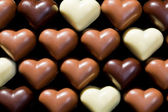 Chocolate hearts background — Foto de Stock
