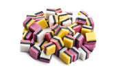 Liquorice confectionery — Stock Photo