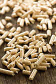 Wooden pellet .ecological heating — Stock Photo