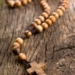 Wooden rosary beads - Stockfoto