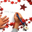 Stock Photo: Writing letter to Santa