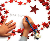 写给圣诞老人的信 — 图库照片
