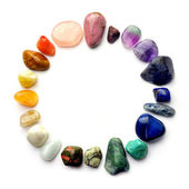 Gemstones circle — Stock Photo