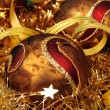 Christmas balls and other decoration — Stock Photo