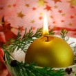 Christmas candle in ice bowl — Stock Photo #7733218