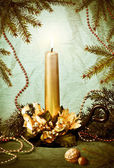 свеча рождества — Стоковое фото