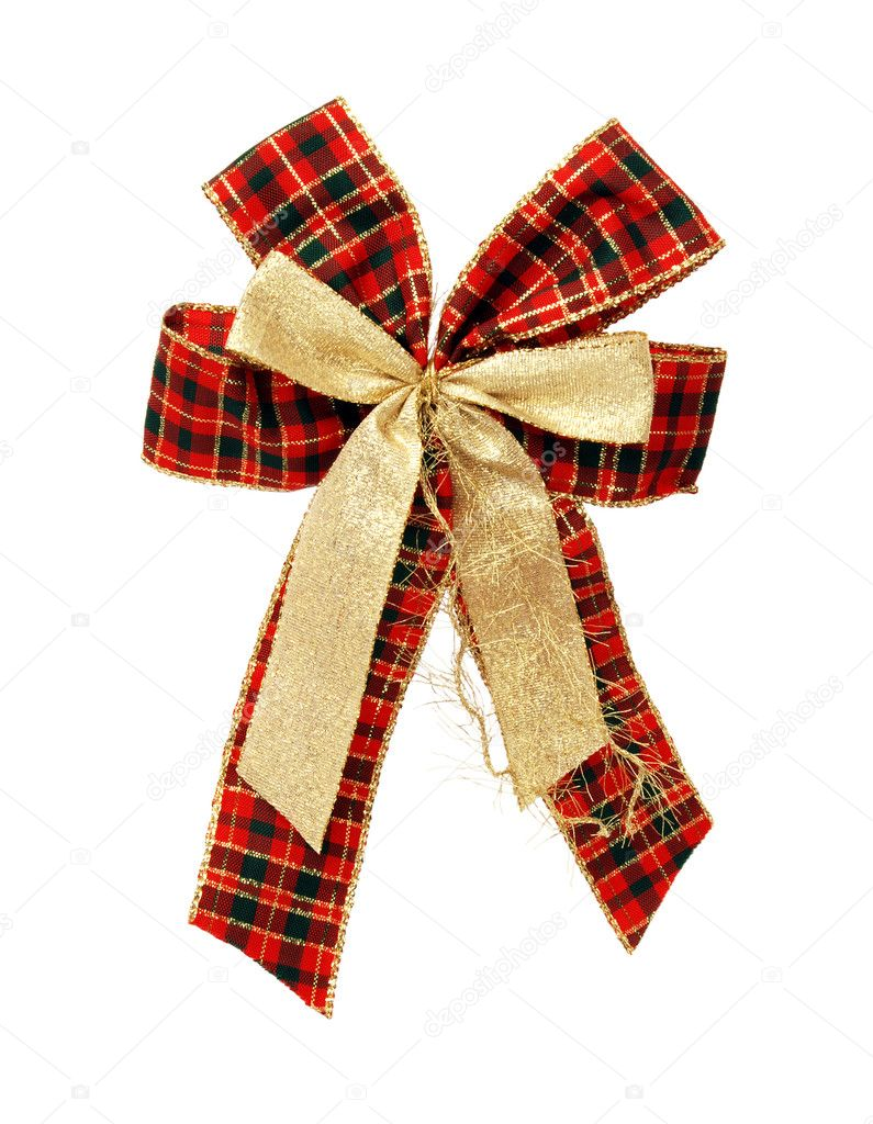 Christmas bow, isolated — Stock Photo #7756927