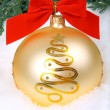 ストック写真: Golden xmas bauble