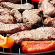 Bbq food background — Stock Photo