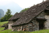 Abandoned stoned house in Swiss — Stock Photo