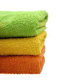 Barevné ručníky — Stock fotografie