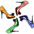 Stock Photo: Womshoes with color sequin