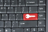 """Keyboard with """"red key"""" button — Stock Photo"""