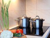 Pot in keuken — Stockfoto