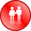 Love couple icon — Stock Photo