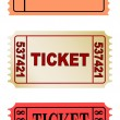 Stock Photo: Color tickets