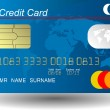 Blue credit card vector — Stock Photo #7939589